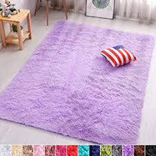 Amazon Com Pagisofe Soft Fuzzy Purple Area Rugs For Kids Room Girls Bedroom Fluffy Floor Rugs Shag For Dorm Baby Nursery Fur Rugs Cute Plush Rug Decorative Accent Rug Thick Shaggy Carpet 4