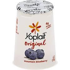 fat free mounn blueberry yogurt