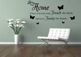 Home Friends Family Wall Sticker Decal Quote Wall Art Home Etsy