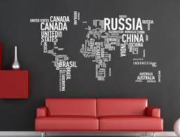 World Map Wall Decals Ellaseal