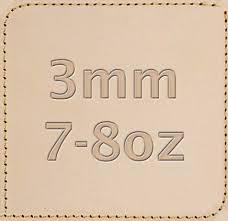 3mm 7 8 oz full grain tooling leather