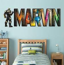 Thanos Personalized Name Decal Wall Sticker Decor Marvel Avengers Bedroom Wp210 Ebay