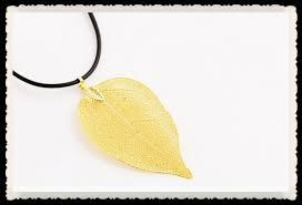 dipped 24k gold leaf pendant necklace