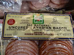 natural uncured canadian bacon slices