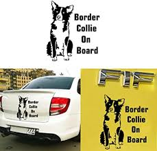 Amazon Com Atiehua Car Door Border Collie On Board Car Decal Vinyl Sticker Auto Laptop Car Door And Stickers Hood Sports Outdoors