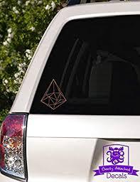 Amazon Com Geometric Triangle Shape Vinyl Car Decal 5 Copper Metallic Automotive