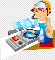 free disc jockey cartoon dj