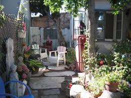 funky garden patio outdoor courtyard