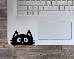 Cat Decal Cat Sticker Computer Decal Laptop Stickers Laptop Etsy