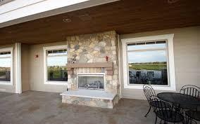 installing an indoor outdoor fireplace