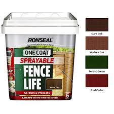 ronseal one coat sprayable fence life
