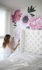 Soft Pink Garden Flowers Pink Bedroom Decor Girls Room Decor Flower Wall Decals