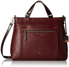 fossil vickery leather shoulder bag