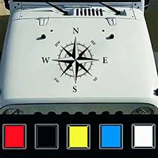 Amazon Com Giftcity Car Decals 1 Pcs Compass Decal Car Sticker Decals Car Decal Vinyl Car Hood Decal For Car Truck Ford F150 Jeep Wrangler Universal Scratch Hidden Car Stickers Black Automotive