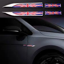 England Flag Of English Emblem Chrome Car Decal Sticker 3d Badge British