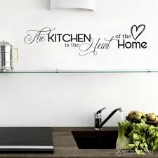 Kitchen Quote Wall Decal Kitchen Is The Heart Of The Home Etsy