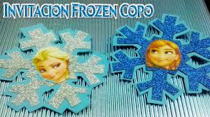 Invitaciones De Cumpleanos De Frozen En Goma Eva Manualidades En Goma Eva Y Foami