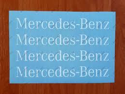 Mercedes Benz Sport Racing Window Decal Sticker Emblem Logo