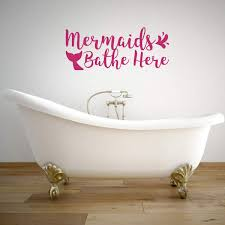 Mermaid Wall Decal Mermaids Vinyl Decor Wall Decal Customvinyldecor Com