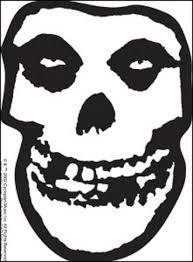 Misfits Sticker Clear Skull Logo 5 X 4 Inches Rock Merch Universe