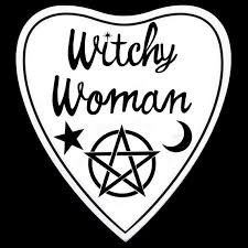 Witchy Woman Vinyl Decal Stikcer Halloween Wicca Pagan Etsy