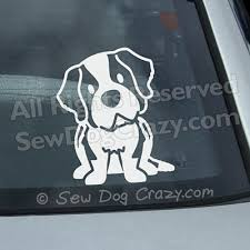 Protected By A St Bernard Decal Sew Dog Crazy