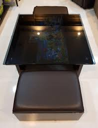square coffee table tempered glass top