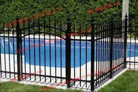 China Steel Fence Panels For Garden Fencing Steel Swimming Pool Fencing China Decorative Safety Farm Fence Hot Selling Security Fence