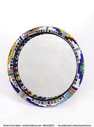mirror frame large beaded ndebele