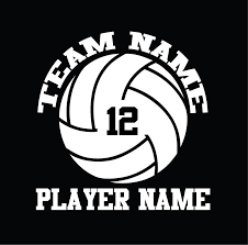 Custom Volleyball Vinyl Stickers Team Name Number Gymrats Volleyball Clothing Co