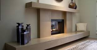concrete fireplace and fireplace
