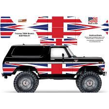 Uk England British Flag Traxxas Trx4 Ford Bronco Body Skin Wrap Decal Ultradecals Powerhobby Com