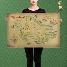 Peter Pan Map Of Neverland Lost Boys And Captain Hook Custom Lost Boys Disney Art Neverland