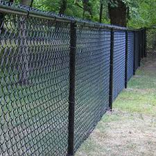 5 Foot Tall Powder Coated Black Chain Link