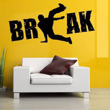 Boy Break Dance Street Wall Stickers For Music Dancing Room Wallpaper Art Decoration Wall Decals Living Room Home Murals Wall Stickers Buy Wall Stickers Cheap From Joystickers 10 76 Dhgate Com