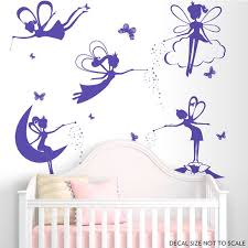 Fairy Wall Decals Nursery Wall Decal Girl Room Decal Fairy Etsy