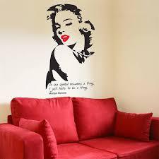 Marilyn Monroe Wall Sticker The Bright Blue Pig