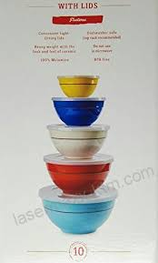melamine 10 piece mixing bowl set