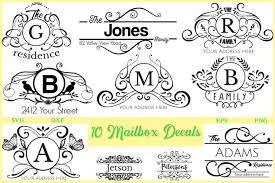 10 Mailbox Decals Pack Svg Dxf Eps And Png 214860 Signs Design Bundles