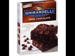 dark chocolate brownie mix dry
