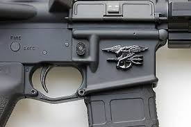 Metal Decal Sticker Navy Seal Emblem F Ar15 Magwell Color Matte Black 9 95 Picclick