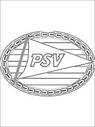Kleurplaat Psv Logo Gratis Kleurplaten