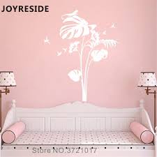 Joyreside Flower Nursery Tree Wall Decal Floral Wall Sticker Beautiful Vinyl Decor Home Girl Bedroom Decor Interior Design A1197 Wall Stickers Aliexpress