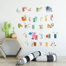 Shop Walplus Kids Learning A To Z Letters Wall Sticker Nursery Decor Decal Overstock 31768889