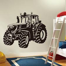 Large Farm Driving Tractor Wall Sticker Nursery Kids Room Cartoon Tractor Truck Car Vehicle Wall Decal Playroom Vinyl Decor Sh190925 Large Wall Stickers Letter Stickers For Walls From Hai08 11 08 Dhgate Com
