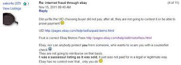 ebay motors scam er ebay profiting