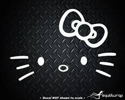 Hello Kitty Head Face Bow Car Truck Wall Vinyl Window Decal Decals Sticker
