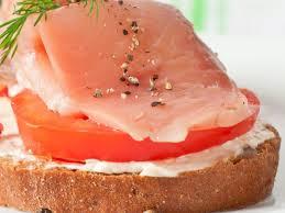 smoked salmon and cote sandwich