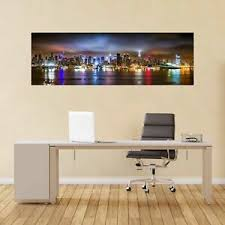 New York City Hudson River Panoramic Wall Sticker Mural Decal Home Office Bc9 Ebay