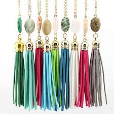 boho velvet long tassel necklace 2020